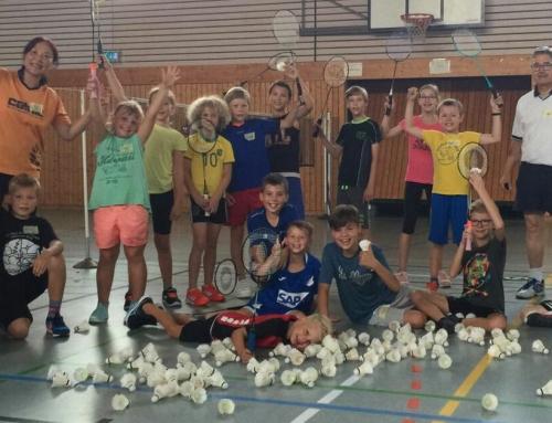 Badminton als Ferienspaß